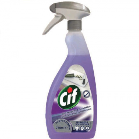 CIF PROFESSIONAL 2IN1 CLEANER DISINFECTANT CONCENTRATE 750ML skoncentrowany preparat myjąco-dezynfekcyjny